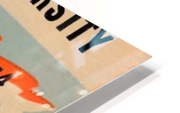 1944 oklahoma sooners osu cowboys ticket stub metal sign college football tickets wood prints art r1 HD Sublimation Metal print