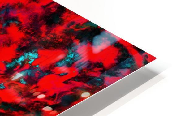 Fluttering red HD Sublimation Metal print