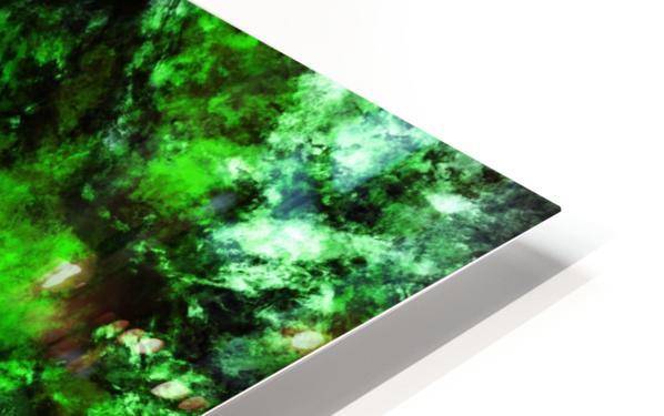 Green burst HD Sublimation Metal print