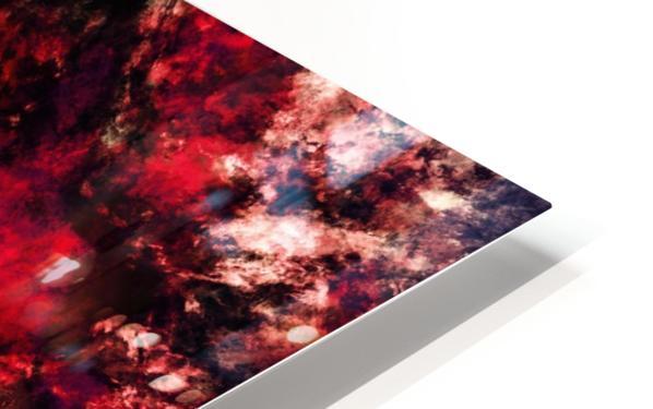 Red burst HD Sublimation Metal print