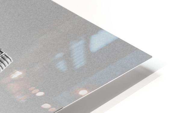 Black and White San Francisco Skyline HD Sublimation Metal print
