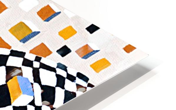 Retro Minimalism Abstract Chess Pattern HD Sublimation Metal print