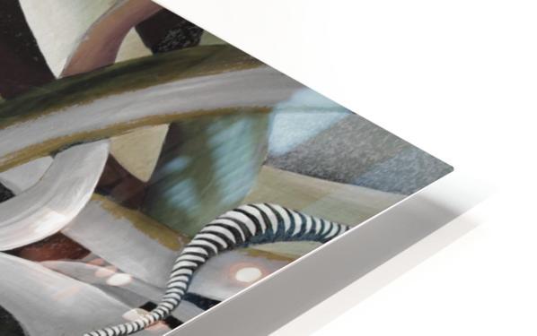 Interlacing Dramatic Contemporary Abstract HD Sublimation Metal print