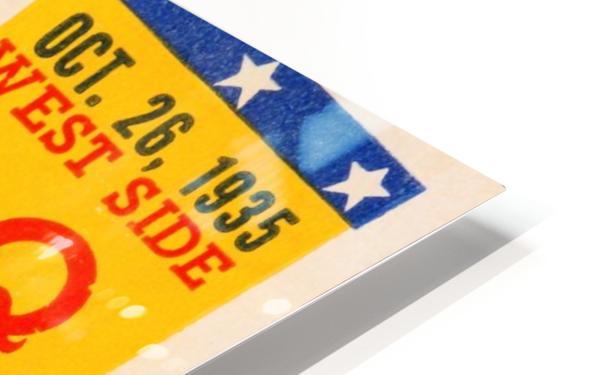 1935 Notre Dame vs. Navy Ticket Stub Wall Art HD Sublimation Metal print