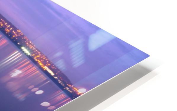 Swansea Bay at night HD Sublimation Metal print