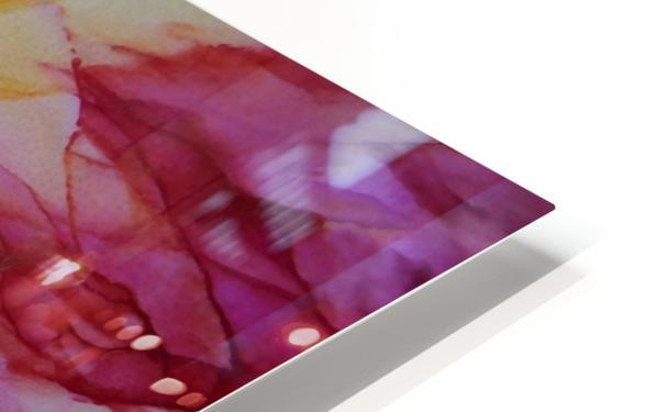 Rainbow Bloom HD Sublimation Metal print