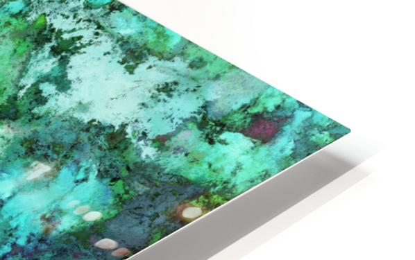 Turquoise terrain HD Sublimation Metal print
