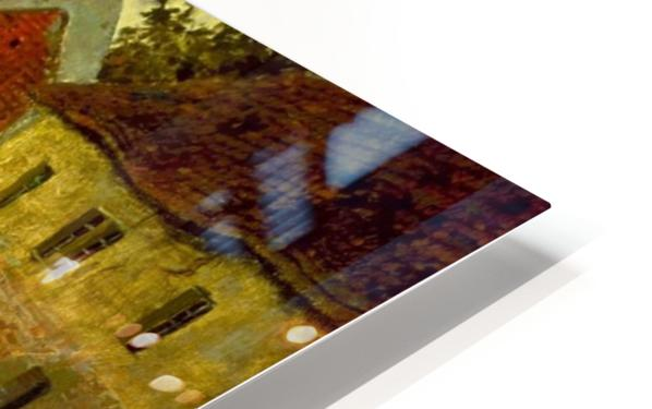 Village on the Bank of a Stream HD Sublimation Metal print
