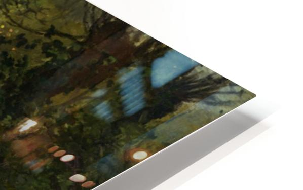 Woodland Scene with a River HD Sublimation Metal print