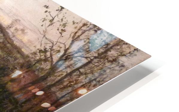 Soleil couchant sur l'Arques a Pequigny HD Sublimation Metal print