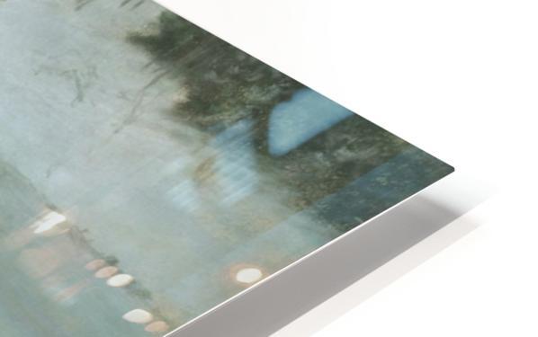Winter landscape with river HD Sublimation Metal print