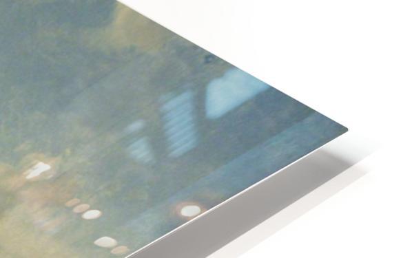 Repairing the Boat HD Sublimation Metal print