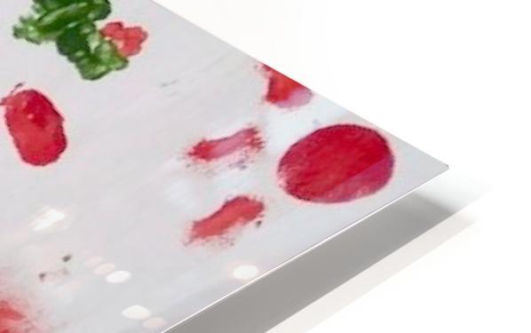 Myona red flower HD Sublimation Metal print