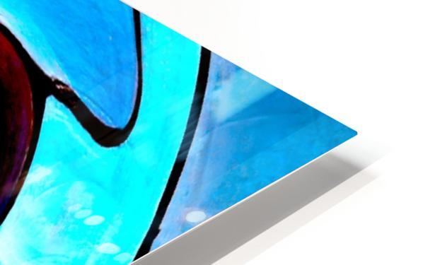 Art Deco_Green _Pattern_Aqua_Black HD Sublimation Metal print