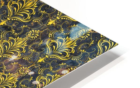 Golden pattern with marble HD Sublimation Metal print