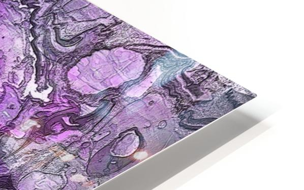 Purple Marble HD Sublimation Metal print