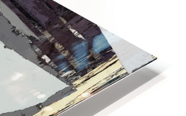 The grey barrier HD Sublimation Metal print
