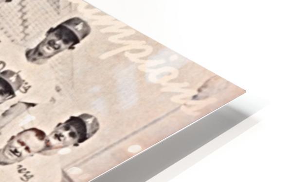 1963 la dodgers world champions team photo HD Sublimation Metal print