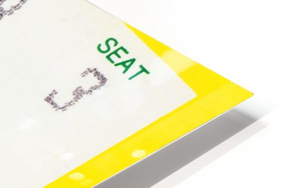 1986 seattle supersonics ticket stub canvas art HD Sublimation Metal print