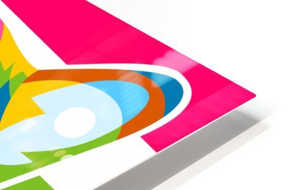 Shiba Inu Colorful Dog HD Sublimation Metal print