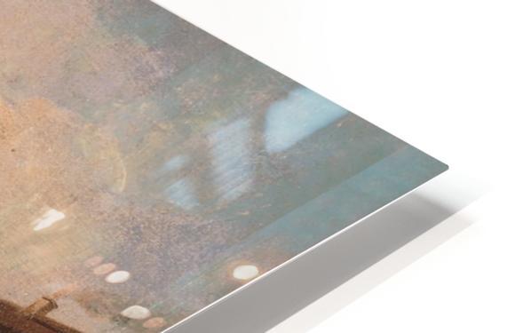 Piazza della Vittoria a Pavia olio su tela HD Sublimation Metal print