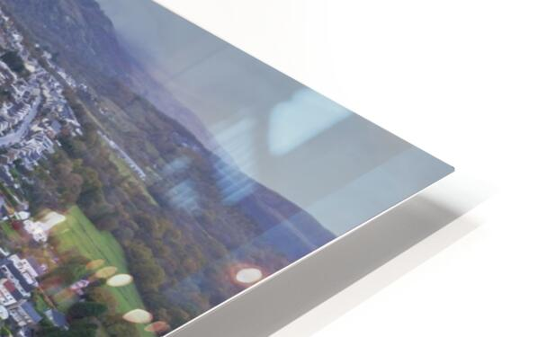 Rainclouds over Ystradgynlais HD Sublimation Metal print