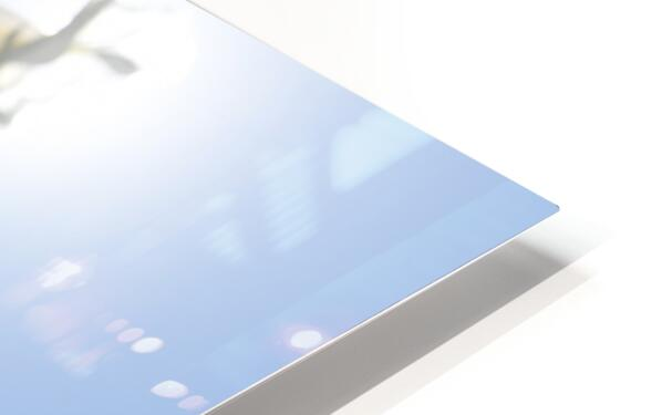 Bright white - glow HD Sublimation Metal print