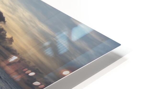 Sunrise Golden HD Sublimation Metal print