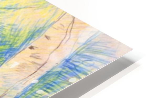 Portrait of Paule Gobillard by Morisot HD Sublimation Metal print