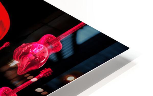 PinkRainBlackVelvet HD Sublimation Metal print