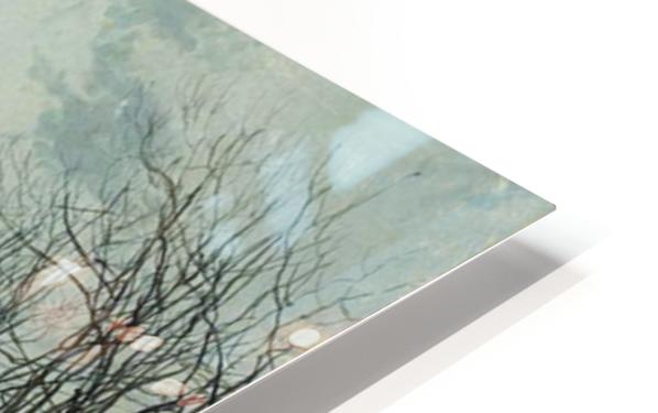 A Wintry Moon HD Sublimation Metal print