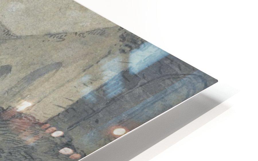 La halte des comediens dans la ferme HD Sublimation Metal print