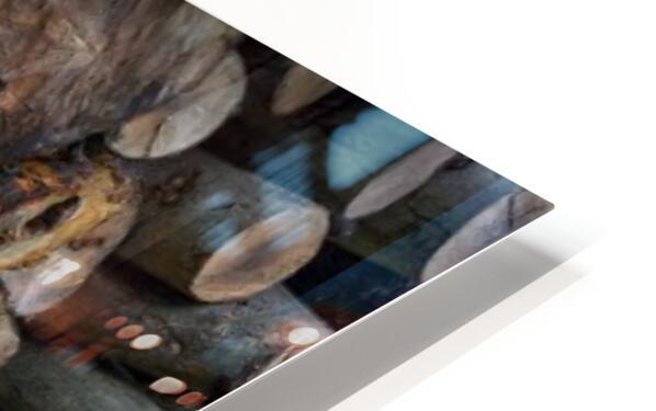 Log Pile HD Sublimation Metal print