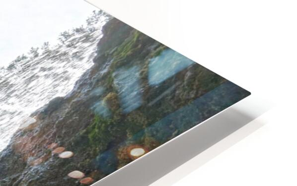 Inside the Waterfall HD Sublimation Metal print