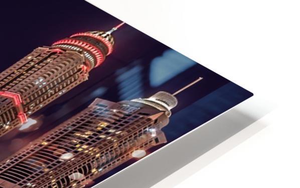 Dubai Marina Night Shot HD Sublimation Metal print
