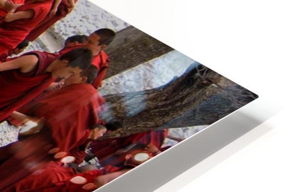 Monks debating HD Sublimation Metal print