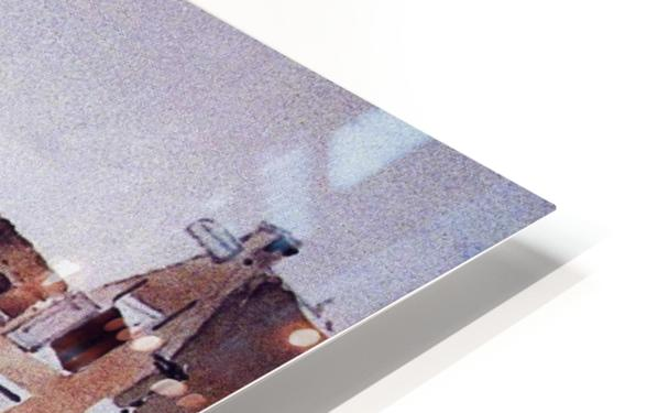 Gracht in Meppel met kerk HD Sublimation Metal print