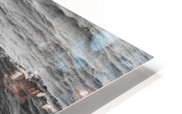 Splash Icicles ap 2147 B&W HD Sublimation Metal print