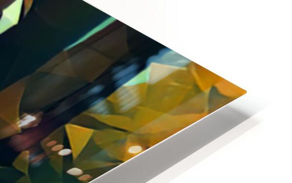 hollywood sign art HD Sublimation Metal print