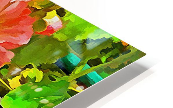 Penstemon Pop Art Style HD Sublimation Metal print