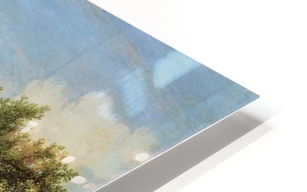 River Landscape with figures HD Sublimation Metal print