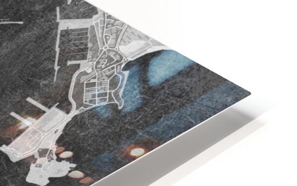 Gray vintage map of Ibiza Spain HD Sublimation Metal print