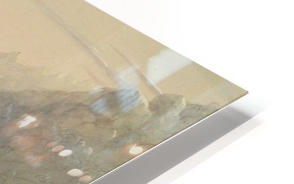 Shoshone Indians - Fording a River HD Sublimation Metal print