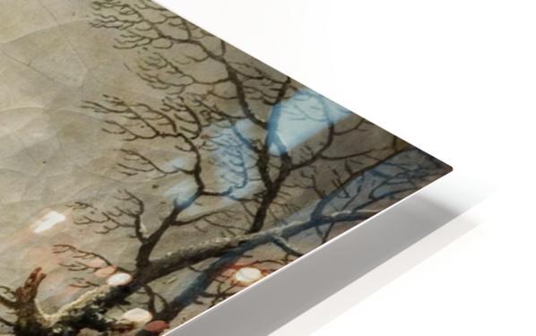A frozen river landscape with figures HD Sublimation Metal print