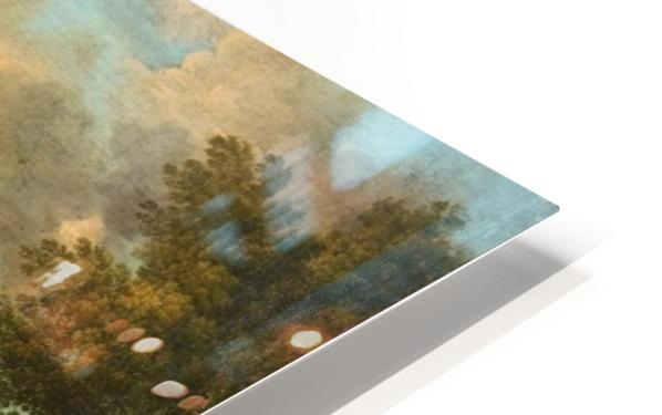 Paesaggio montano con figure HD Sublimation Metal print
