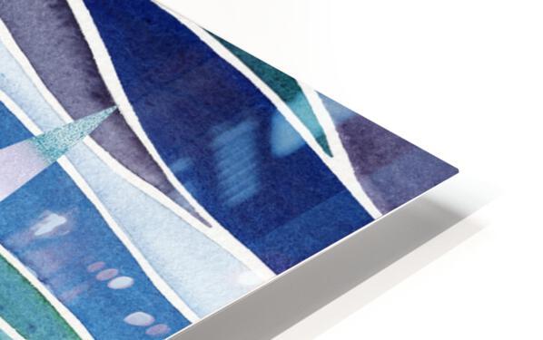 Sailboats At The Ocean Shore Seascape Painting Beach House Art Decor XIV HD Sublimation Metal print