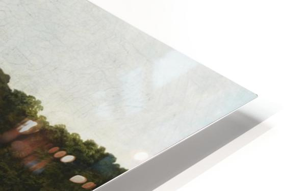 A Capriccio River Landscape With Washerwomen Near a Ruined Bridge HD Sublimation Metal print