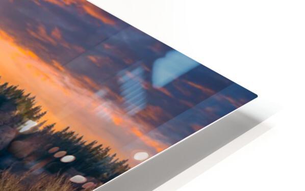 Route des Failles - La crevasse HD Sublimation Metal print