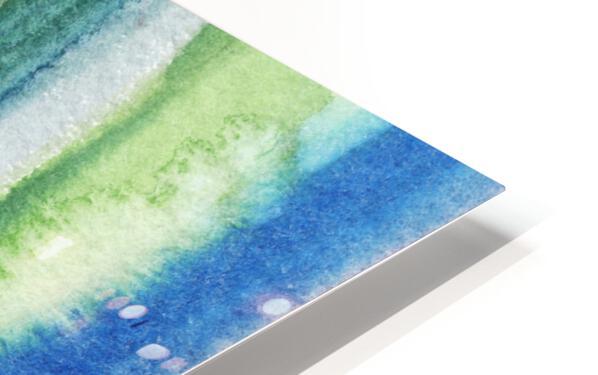 Ocean And Sea Beach Coastal Art Organic Watercolor Abstract Lines I HD Sublimation Metal print