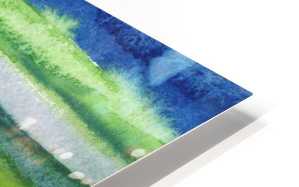 Ocean And Sea Beach Coastal Art Organic Watercolor Abstract Lines II HD Sublimation Metal print